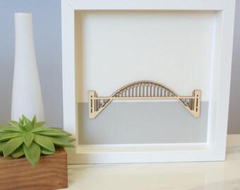 TYNE BRIDGE WOODCUT