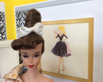 OOAK Vintage Beehive Barbie Wearing Evening Splendor