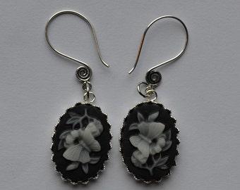 Flower & Butterfly Swirl Ear Wire Earrings