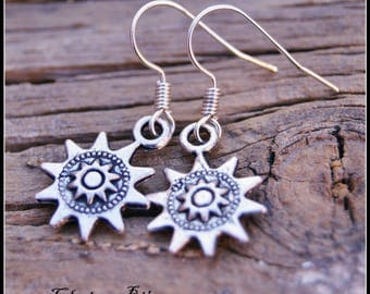 Silver Earrings, Sun Earrings