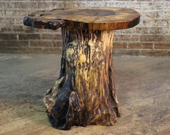 Driftwood Log Table Base - DIY Natural Driftwood Furniture - Live Edge Rustic Side Or End Tables