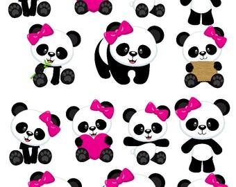 Panda Wall Decal Etsy