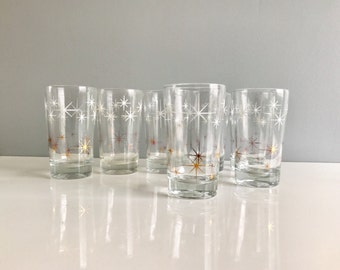 Mid Century Glasses / Set of 7