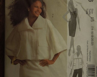 McCalls M5596, sizes 14-22, lined jacket, dress and pants, UNCUT sewing pattern, craft supplies
