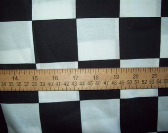 "1 piece of Black & White Check fabric   65""  x  44"""