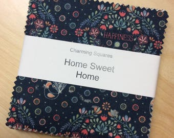"Pack of Home Sweet Home ""DISCOUNTED PRICE"" 5 inch Charm Charming Squares Lewis & Irene Patchwork Quilting Sewing"
