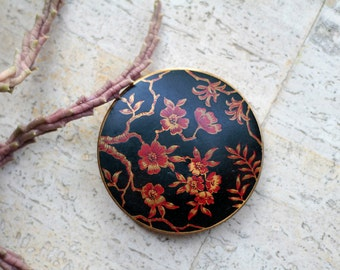 SALE Vintage 70's powder compact with mirror
