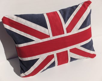 Cushion, Union Jack Flag Cushion, Decorative Cushion, Patriotic Cushion, Handmade