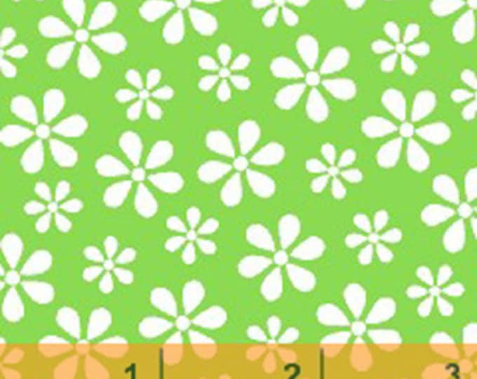 WINDHAM BASICS - BRIGHTS - Daisy in Green - Cotton Quilt Fabric - Basic Daisies Floral - by Windham Fabrics - 29399-3 (W3797)