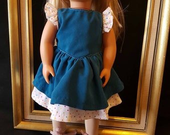Sun Dress to fit American Girl Doll or 18in Doll's
