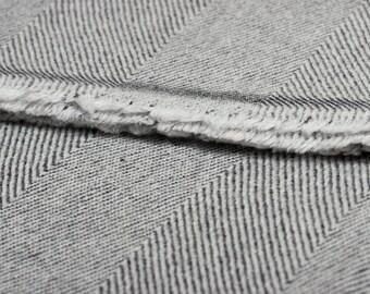 CASHMERE THROW - Dark grey and white
