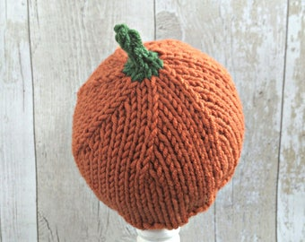 Halloween Photo Props, Fall Newborn Props, Newborn Pumpkin Hat, Newborn Photo Props for Fall, Autumn Baby Photography Props, Baby Pumpkin