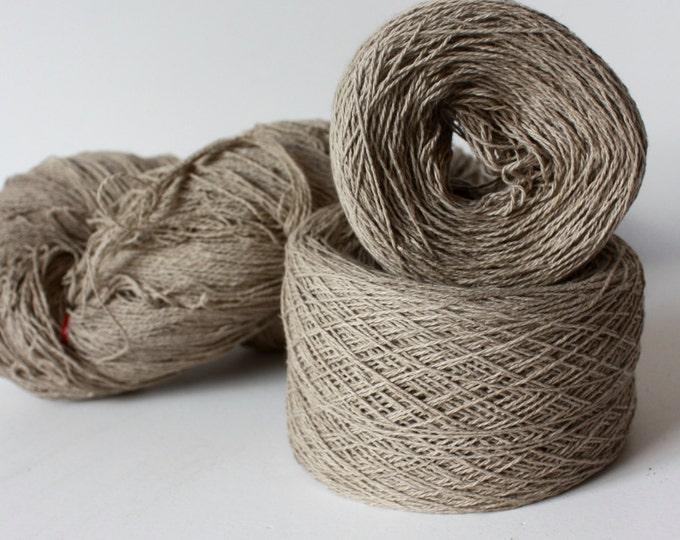100% Hemp Yarn - Natural Dye - Col: 005 Laurel with Iron - String