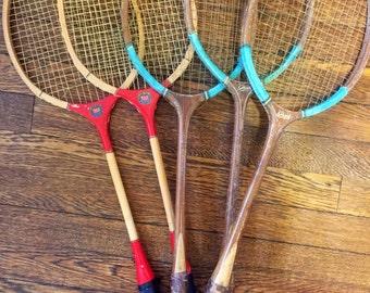 Vintage Badminton racquets--great decor!