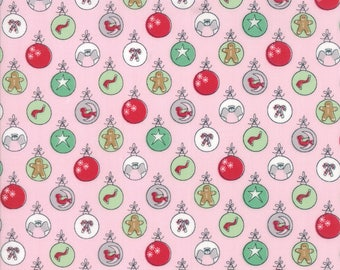 Sugar Plum Christmas Pink designed by Bunny Hill Designs for Moda Fabrics, 100% Premium Cotton by the Yard