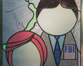 X-Files Stained Glass Window Cling