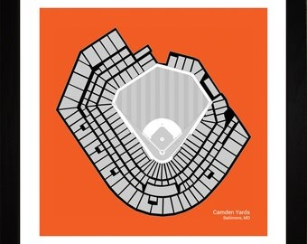 Baltimore Orioles Dictionary Art Print Camden Yards Art