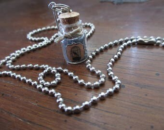 Miss Peregrine Home for Peculiar Children Mini Bottled Jar Necklace