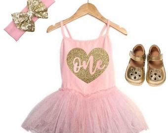 First Birthday Outfit Girl 1st Birthday Girl Outfit Pink and Gold Birthday Outfit 1st Birthday Outfit Girl Pink Tutu Cake Smash