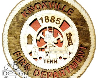 Knoxville, TN Fire Department  wooden 10.5 inch plaque  CR8-0152