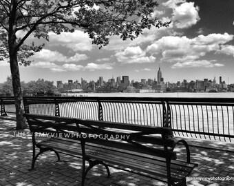 Hoboken waterfront, original photograph