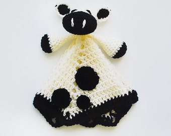 Black and White Cow Lovey - Cow Baby Blanket -Cow Security Blanket - Cow Blanket - Baby Shower Gift - Newborn Gift - Baby Gift