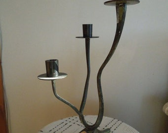 Unique Wrought Iron Candle Stick Holder
