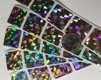 Save the Date-scratch off stickers- make your own scratch off games, set of 250 square hologram scratch off stickers