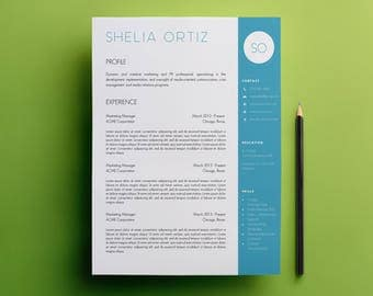 Resume Template & Cover Letter Template With and Without Photo Designs - Microsoft Word Doc - Modern, Creative CV Template A4 and US Letter