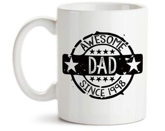 Coffee Mug, Awesome Dad Seal Of Approval, Personalized, Father's Day, Dad's Birthday, Christmas, Gift Idea, Large Coffee Cup