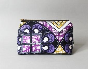African Print Makeup Bag