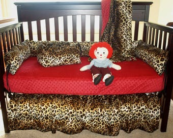 Leopard Print Crib Bedding Set