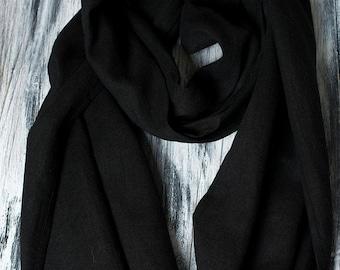 Linen Scarf Black