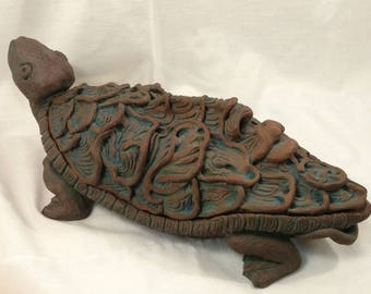 Turtle. Metamorphic sculpture, with hidden storage, handmade ooak.