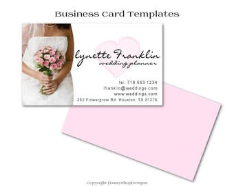 Business Card,Premade Business Card Design-Wedding.Bride,Floral,Heart-Pink,White,Black-Business Card Template For Printing at Vistaprint.com
