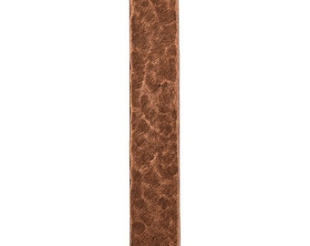 Hammered Flat Tag - Long Narrow Vertical - Single Hole - Antique Copper (plated)