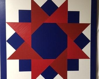 2 x 2 wooden barn quilt Stars