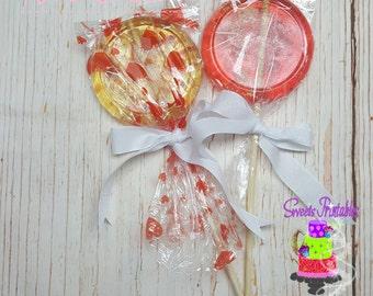 "Lollipops Sugar 4"", Homemade Lollipops, Party Favor"