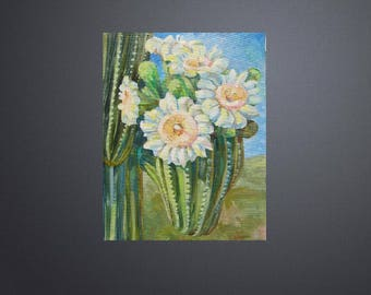 Picture Original Oil Painting-Cacti