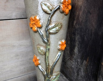 Handmade Ceramic Garden Pot Perfect For Indoors Or Oudoors. One Of A Kind  Gift For