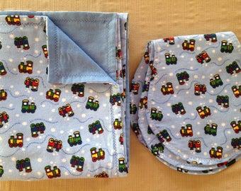 Choo-Choo Trains - Flannel Blanket Set