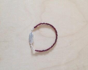Bracelet with spring and Garnet