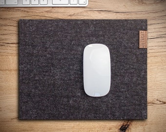 "felt mousepad mouse pad mat mousemat ""Wohltat"", merino wool, anthracite"
