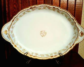 Antique Theodore Haviland Limoges Schleiger 844 Large Serving Platter, Antique Fine China, Antique China Serveware, Haviland Limoges Platter