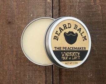 The Peacemaker Beard Balm - Leave-in beard conditioner, Dark Spice & Citrus scented beard styling pomade, Gunpowder Beard Butter