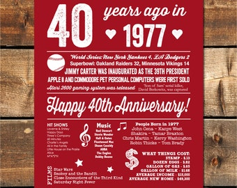 40th Anniversary Party, 40th Anniversary Decoration, 40th Anniversary Gift, 40th Anniversary Banner, 40th Anniversary Sign, INSTANT DOWNLOAD