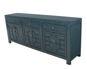 Blue Sideboard Media Cabinet