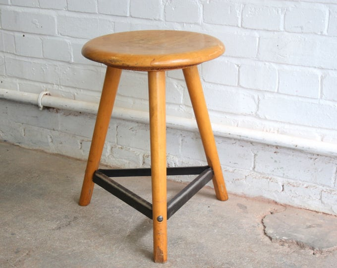 Mid Century German Machinists Stool Circa 1950's