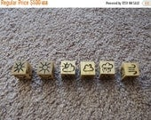 Holiday savings Wood Cut Dice - Random Weather Die (D20/Dungeons and Dragons)