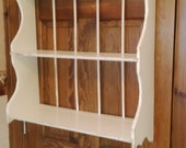 RESERVED FOR LISA Shabby Chic Three Tier Plate Rack Shelf